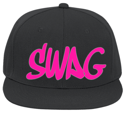 Swag Yolo Custom Heat Pressed Flat Bill Fitted Hats 123