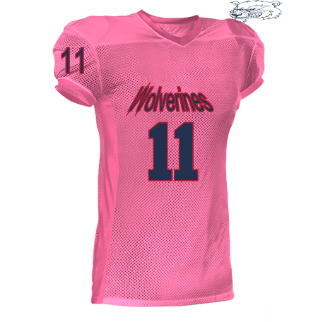 aa35ffa6a WOLVERINES 12 11 11 NEGRON 11 11 - Youth Two Color Football Jersey - 750EY  - Custom Heat Pressed - 750EY2041 - CustomPlanet.com