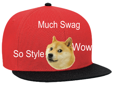 TOP DOGE MUCH SWAG WOW SO STYLE - Snapback Flat Bill Hat - 125-978 -  125-9782037 - Custom Heat Pressed da40e3579a0d13112013175732220 9c52507a2b0