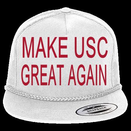 MAKE USC GREAT AGAIN - Classic Poplin Golf Mesh Trucker Hat - 6003 -  60032037 - Custom Heat Pressed 01fe346658fd1210201516303984 7efe53a37ebd