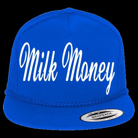 MILK MONEY - Classic Poplin Golf Mesh Trucker Hat - 6003 - 60032040 - Custom  Heat Pressed - CustomPlanet.com 099a5f326a4e