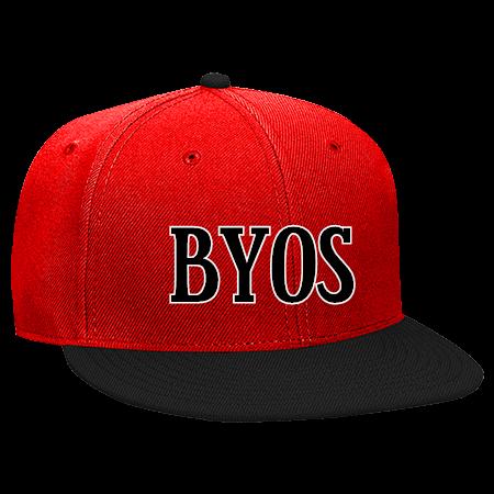 86e38f5bd my byos - Snapback Flat Bill Hat - 125-978 - 125-9782032 - Custom Heat  Pressed