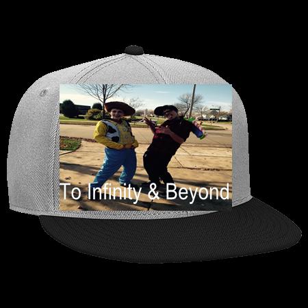 TO INFINITY   BEYOND - Snapback Flat Bill Hat - 125-978 - 125-9782050 -  Custom Heat Pressed 700cfc3db2c326102014131439890 a3461083b48
