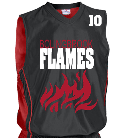 02f334980 FLAMES - Youth Reversible Dazzle Basketball Jersey - 1484 - 14842039 -  Custom Heat Pressed Youth Small 64d52813da9816112012142838697A
