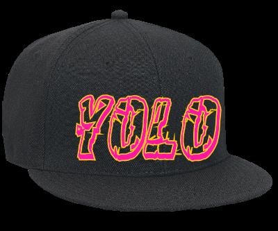 yolo - Snapback Flat Bill Hat - 125-978 - 125-9782034 ...