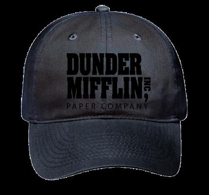 Dunder Mifflin Dad Hat Black - Low Pro Style Hat - 18-010 - 18-0102024 -  Custom Heat Pressed 43cdd2b9cc2526201613519275 00bb28d198b