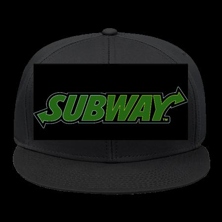 Subway - Snap Back Flat Bill Hat - 125-1038 - 125-10382042 - Custom Heat  Pressed c245f6a8d0b02342015222346617 fcb3a73ef86