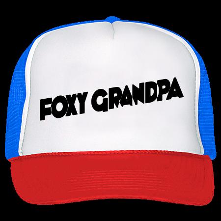 a40b54212343 FOXY GRANDPA - Trucker Hat 39-169 - 39-1692025 - Custom Heat Pressed  64e8cd17868a362016214216462
