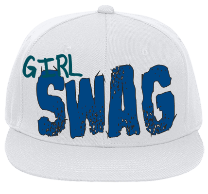Girl Swag - Flat Bill Fitted Hats 123-969 - 123-9692045 - Custom Heat  Pressed f65ebd72afcb2762012162529123 96f099e39210