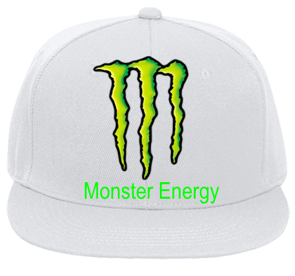 00f22b840c85e KAWASAKI MONSTER ENERGY MONSTER ENERGY - Flat Bill Fitted Hats 123-969 - 123-9692030  - Custom Heat Pressed 19660e037c8795201617216120