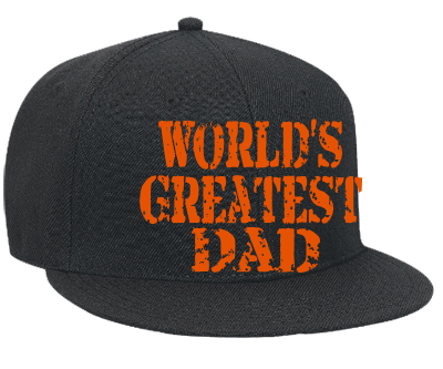 56331f8ae9a WORLD S GREATEST DAD WORLD S GREATEST DAD - Snapback Flat Bill Hat -  125-978 - 125-9782036 - Custom Heat Pressed - CustomPlanet.com
