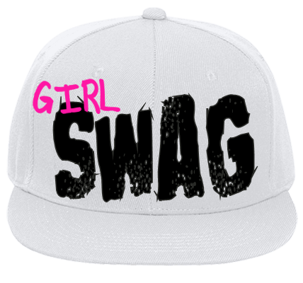 Girly Swag P Flat Bill Fitted Hats 123 969 123