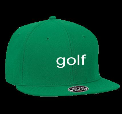 GOLF GOLF WANG GOLF - Snapback Flat Bill Hat - 125-978 - 125-9782028 -  Custom Heat Pressed f760a3380cbd1142013174623583 fcd743b1915