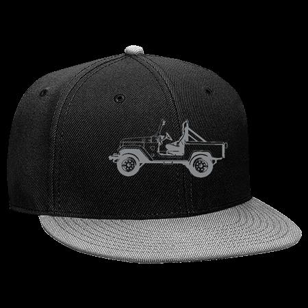 ce52bf896a897 JEEP - Snapback Flat Bill Hat - 125-978 - 125-9782041 - Custom Embroidered  167d6dc7767c20620151850408