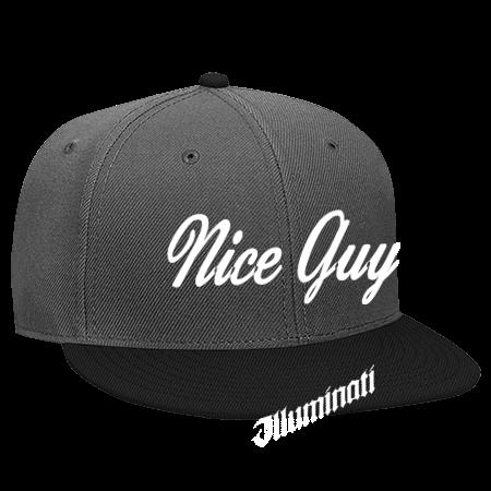 NICE GUY D-BAG ILLUMINATI - Snapback Flat Bill Hat - 125-978 - 125-9782037  - Custom Heat Pressed e3fd6a358dba1852014233149169 1a86c0a44e9