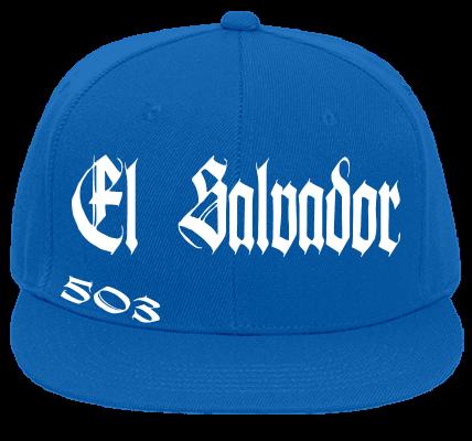 El Salvador 503 El Salvador Custom Embroidered Flat Bill