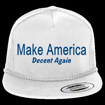 MAKE AMERICA DECENT AGAIN DECENT AGAIN - Classic Poplin Golf Mesh Trucker  Hat - 6003 - 60032023 - Custom Heat Pressed 47b8a2086fef43201675333106 0be02be17d16