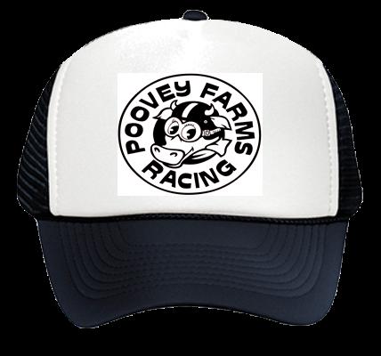 cf7553f6c3c Poovey Farms Racing - Otto Trucker Hat 32-468 - 32-4682033 - Custom Heat  Pressed edcd60d2e5f1154201413134462