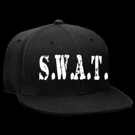 fc758a615a5 S.W.A.T. - Snapback Flat Bill Hat - 125-978 - 125-9782030 - Custom Heat  Pressed 4e7a0553717a610201417375484