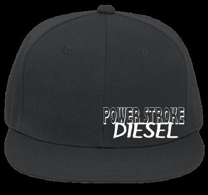 0722bb70eb5 POWER STROKE POWER STROKE DIESEL FORD - Flat Bill Fitted Hats 123-969 -  123-9692034 - Custom Heat Pressed db179940dc52118201522657586