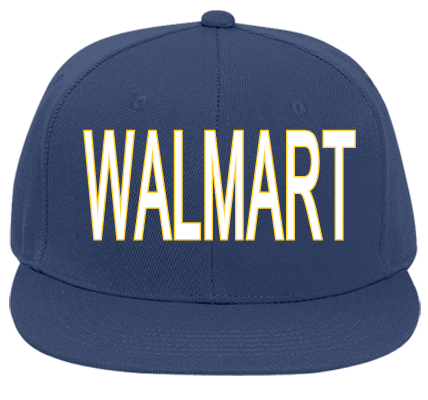 WALMART - Flat Bill Fitted Hats 123-969 - 123-9692050 - Custom Heat Pressed  2f0388b55093299201271314178 23153dc3dbd