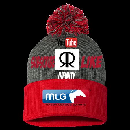 R Infinity MLG Hat - Pom Pom Knit Beanie - SP15 - SP152045 - Custom Heat  Pressed