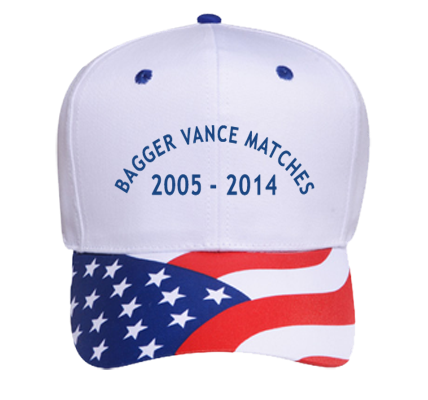 bagger vance matches - navy - Pro Style Pre Printed Otto Cap 56-401 -  56-4012034 - Custom Embroidered