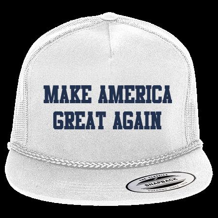MAKE AMERICA GREAT AGAIN - Classic Poplin Golf Mesh Trucker Hat - 6003 -  60032052 - Custom Heat Pressed 3579710d513e3072015151753769 6aafd0100af8