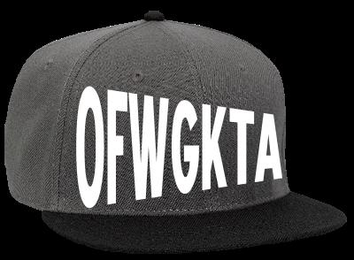 52e820703b72d OFWGKTA GOLF WANG - Snapback Flat Bill Hat - 125-978 - 125-9782020 - Custom  Heat Pressed 2ad40e9c313d172012123428868