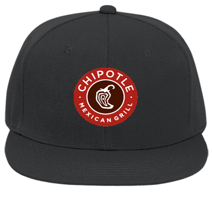 Chipotle Chipotle Mexican Grill Custom Embroidered Flat