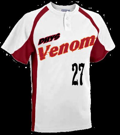Dhys Venom White Adult Line Drive 2 Button Baseball