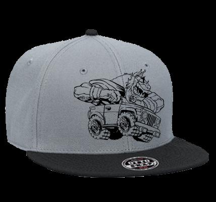 Snapback Custom Screen Printed Snapback Flat Bill Hat