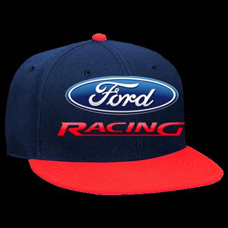 Ford Racing - Snapback Flat Bill Hat - 125-978 - 125-9782028 - Custom Heat  Pressed 0d776cc1d759672015201224772 15525e811c0