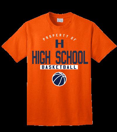 High school basketball tshirt design 100 cotton t shirt for High school basketball t shirts