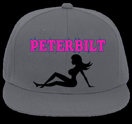 eda950e8c9023 petrbilt peterbilt 379 flat bill fitted hats 123 969 123 9692025 custom  heat pressed customplanet