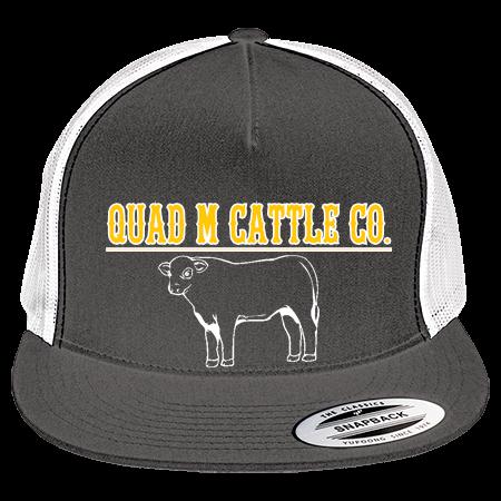 Quad M Cattle Co Two Color Classic Trucker Hat 6006t