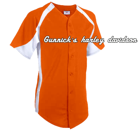 8051970fa GUNNICK'S HARLEY DAVIDSON - Custom Heat Pressed Adult Teamwork Athletic  Full Button Jersey 1231B - 1231B2035 4032dcde214f15620141950582