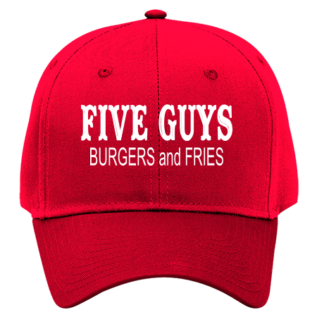 FIVE GUYS BURGERS AND FRIES - Otto Cotton Twill Hat 19-061 - 19-0612049 -  Custom Heat Pressed 24350d2390ad28520169853475 cdb7243f07de