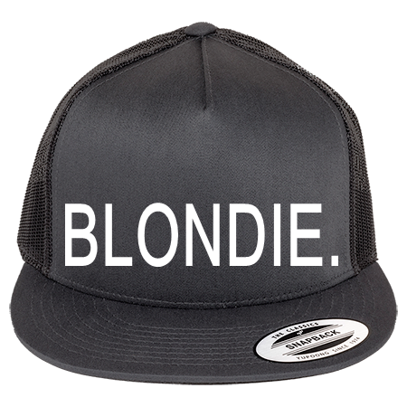 BLONDIE. - Classic Trucker Hat - 6006 - 60062049 - Custom Heat Pressed ...