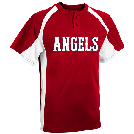 cbbeb4a5617 Solo Angels - Custom Heat Pressed Youth Line Drive 2-Button Baseball Jersey  - 1200P - 1200P2045 f7a87c88620022920144541255