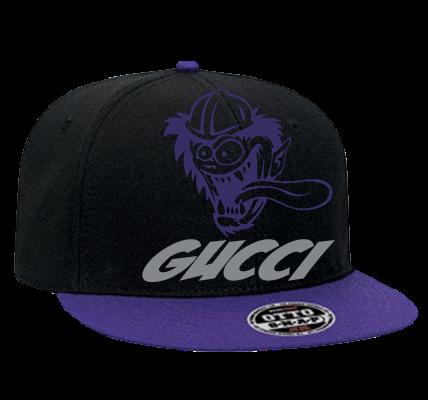 GUCCI - Custom Heat Pressed Snapback Flat Bill Hat - 125-978 - 125-9782037  dccbed3f8e24232201262936849 c533f6b21db