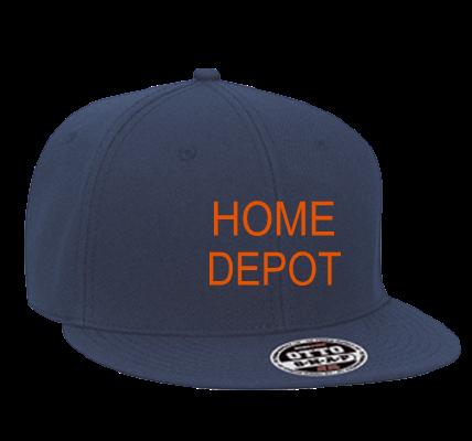 home depot how may i help you snapback flat bill hat 125 978 rh customplanet com