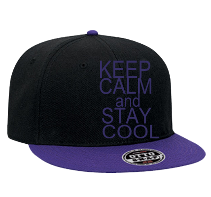 keep calm and stay cool snapback flat bill hat 125 978
