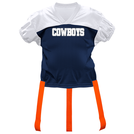 best sneakers 36631 da8dd COWBOYS - Custom Heat Pressed Youth Official Flag Football Jersey - 1368 -  13682028