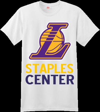 Staples center custom screen printed hanes t shirt for T shirt printing fairlane mall