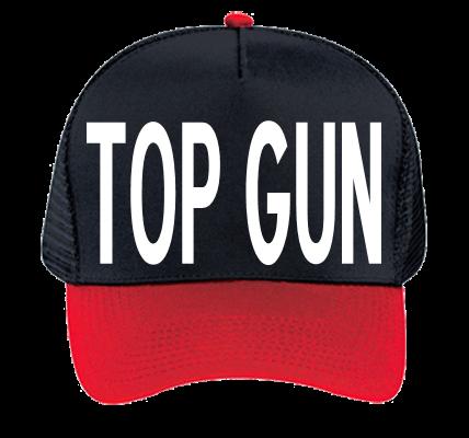 Top Gun Workaholics Custom Embroidered Otto Trucker Hat
