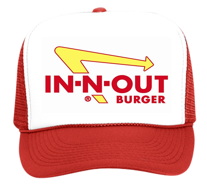 Red IN-N-OUT Hat - Trucker Hat 39-169 - 39-1692028 - Custom Heat Pressed  9a94f4cf069641020141632770 3cd5998c03e