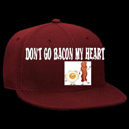 c0c64db21ba28 Bacon Heart - Snapback Flat Bill Hat - 125-978 - 125-9782035 - Custom Heat  Pressed f206460533cd910201615931687