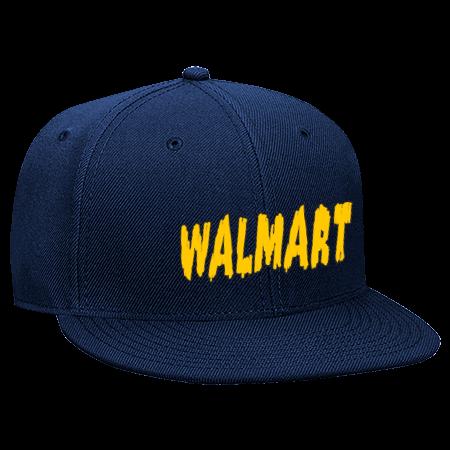 Walmart OVERNIGHT STOCKER OVERNIGHT CREW - Snapback Flat Bill Hat - 125-978  - 125-9782030 - Custom Screen Printed