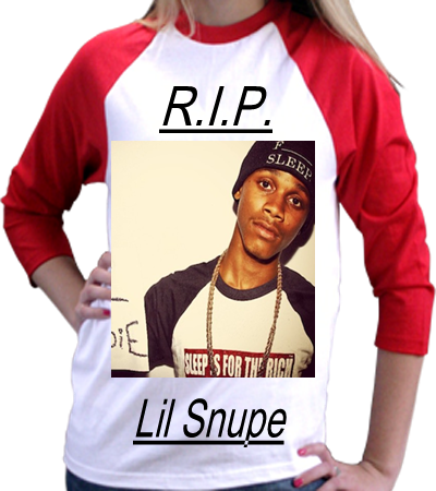 R.I.P. LIL SNUPE - Anvil Youth T-Shirt 2184B - 2184B2029 - Custom Screen Printed - CustomPlanet.com